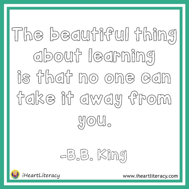 The beautiful thing about learning is that no one can take it away from you. -B.B. King