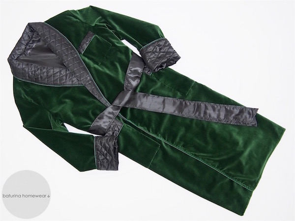 mens luxury velvet dressing gown quilted warm traditional vintage style gentleman smoking jacket robe