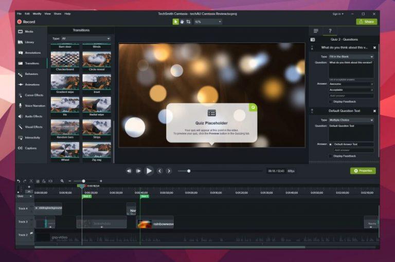 Téléchargement Camtasia Studio v2018.0.4 Build 3822 ! [Dernier] ci4mastream