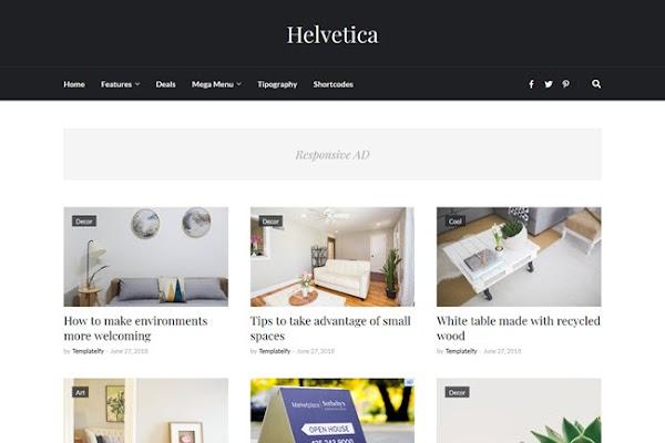 Helvetica Responsive Clean Blogger Template