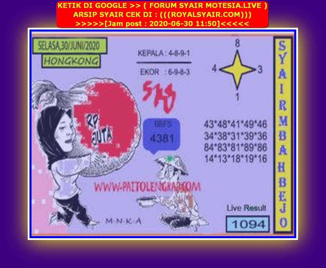 Kode syair Hongkong Selasa 30 Juni 2020 214