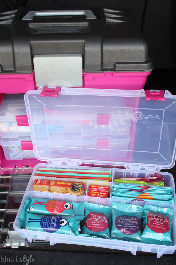 Organized Car Kit Snacks, Straws, Utensils