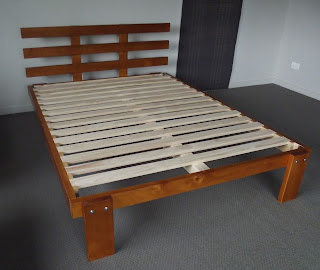 Our Charleston bed, with no mattress.