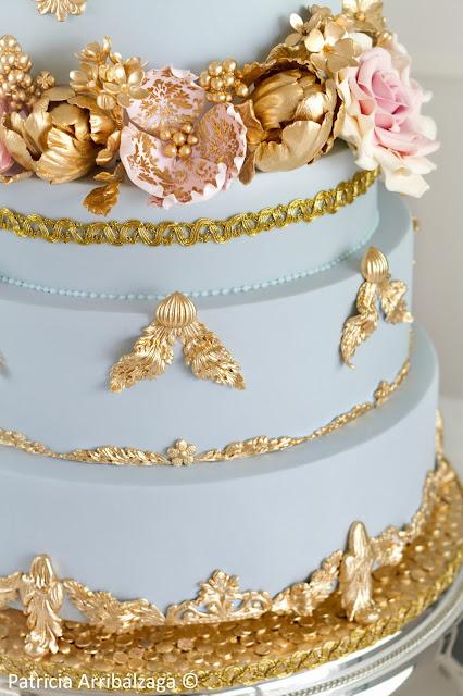 Tarta de boda oro