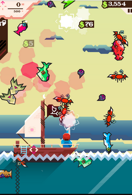 Ridiculous Fishing - Game Mancing Android