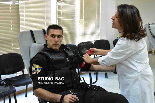 Εθελοντική αιμοδοσία αστυνομικών στην Αργολίδα