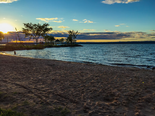 There are several beaches along the waterfront trail in Ashland WI