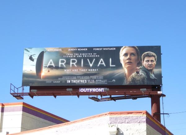 Arrival film billboard