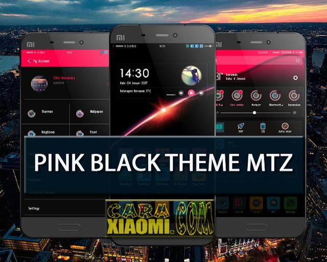 Tema Xiaomi Pink Black Elegant Update Theme Mtz