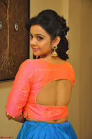Nithya Shetty in Orange Choli at Kalamandir Foundation 7th anniversary Celebrations ~  Actress Galleries 063.JPG