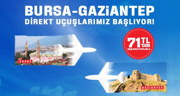 Bursa - Gaziantep Uçak Seferleri Başlıyor THY