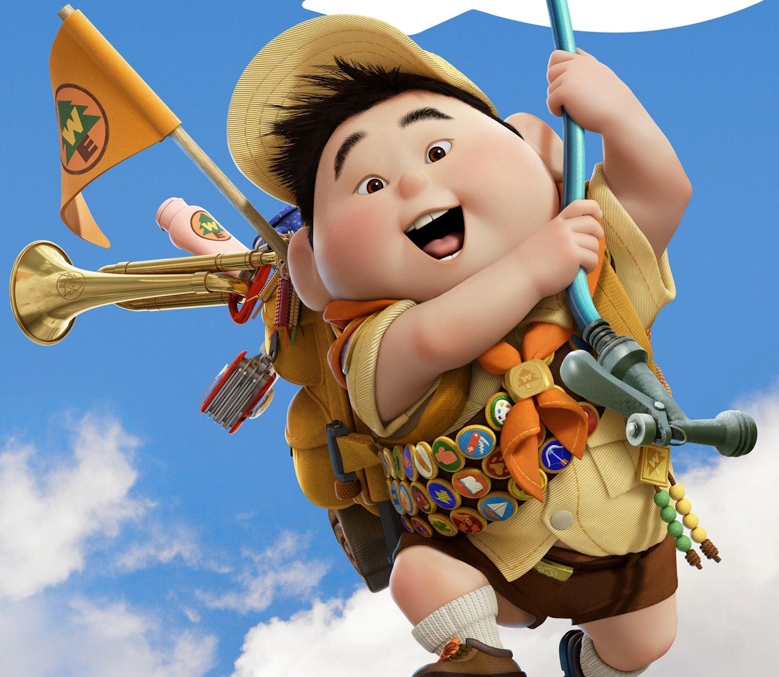 Disney: Disney Characters Pixar Up Russell For Kids Wallpaper