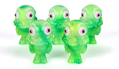 Green Camo Mister Melty Glow in the Dark Vinyl Figure by Buff Monster