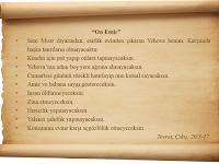 Hz.Musa (as)'a Gelen On Emir (On Emir Nedir)