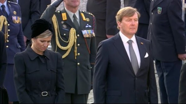 King Willem Alexander and Queen Maxima attend the National Remembrance ceremony at the National Monument on Dam Square in Amsterdam. Queen Maxima style, fashions