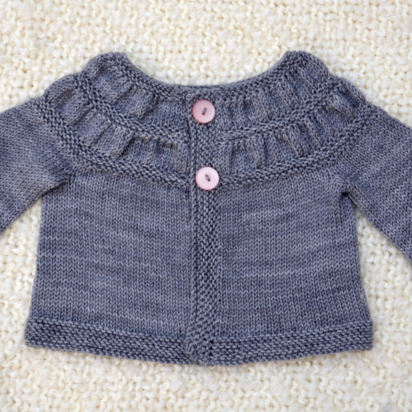 cozy birdhouse | baby tea leaves cardigan