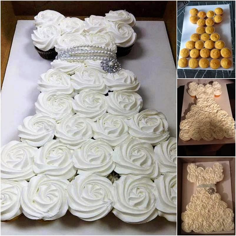 Unique Cupcake Wedding Ideas: Bridal Shower Pull Apart Cupcake Cake Tutorial