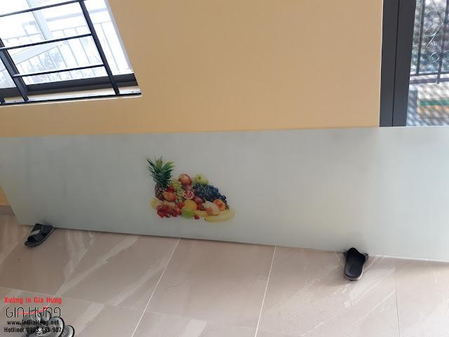 Kính cường lực ốp vách bếp in tranh tại phường Linh Tây, quận Thủ Đức