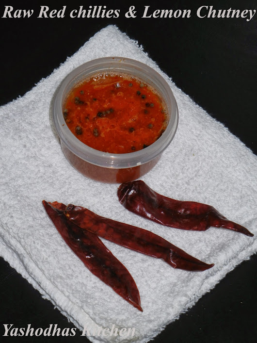 RAW RED CHILLIES & LEMON CHUTNEY/ PULIPPU KARA CHUTNEY