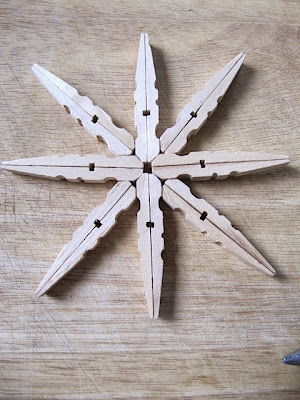 diy clothespin snowflake ornament