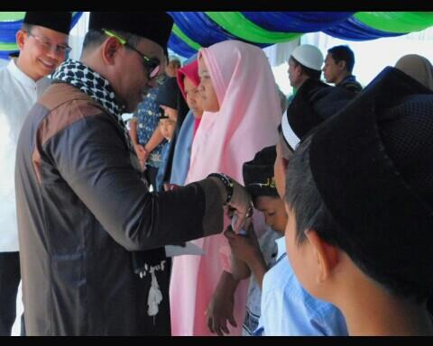 Maulid Akbar Kabupaten Aceh Jaya, Pemkab Santuni 90 Anak Yatim.
