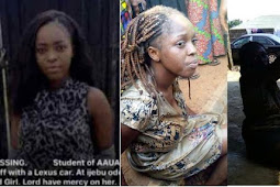 Full Details On Lady Who Ran Mad After Being Dropped By Lexus SUV In Ijebu Ode Yesterday – Her Name, School And Age (Photos)