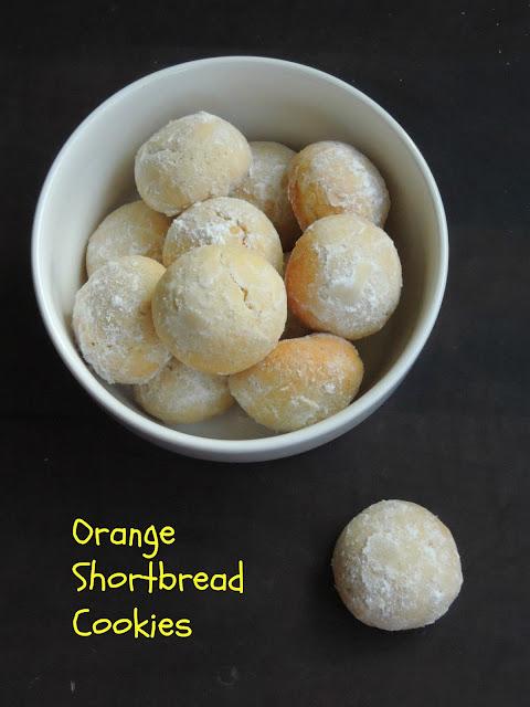 Orange Shortbread cookies,Polvorones de Naranja