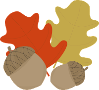Acorns and Leaves - My Cute Graphics