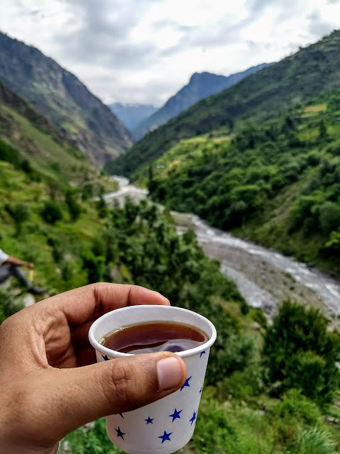 Black tea on a high altitude trek