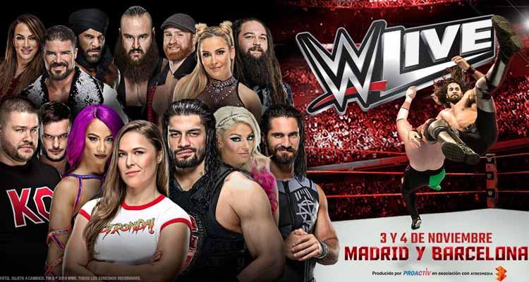 velada de la WWE en Madrid o Barcelona 3 y 4 de noviembre