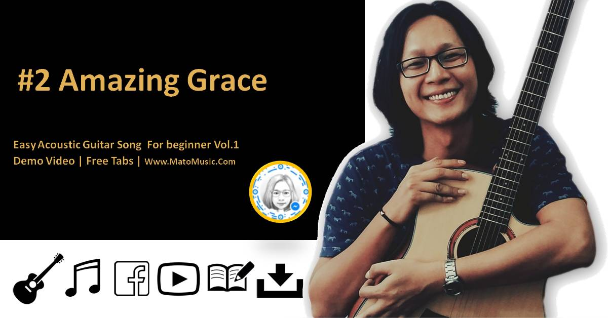 Amazing Grace Acoustic Guitar Tabs For Beginner | Video | Tabs