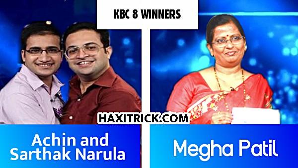 KBC Season 8 Winner Achin & Sarthak Narula And Megha Patil