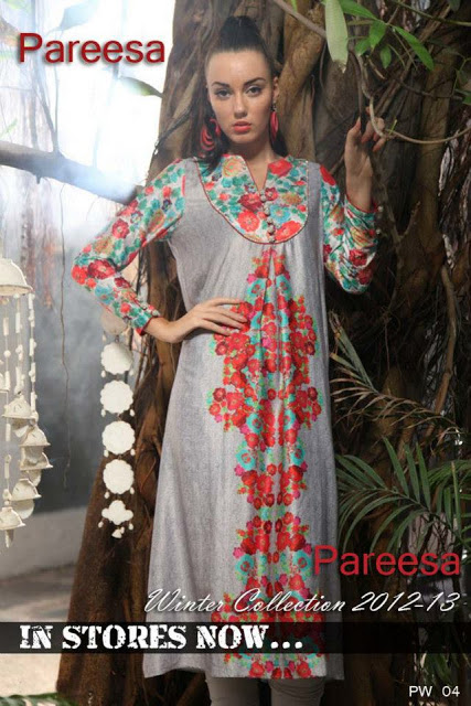 807ecd7b4 New Pareesa Winter Dresses 2013 For Ladies,Girls. Posted by Unknown at  07:15. Labels: ChenOne ...