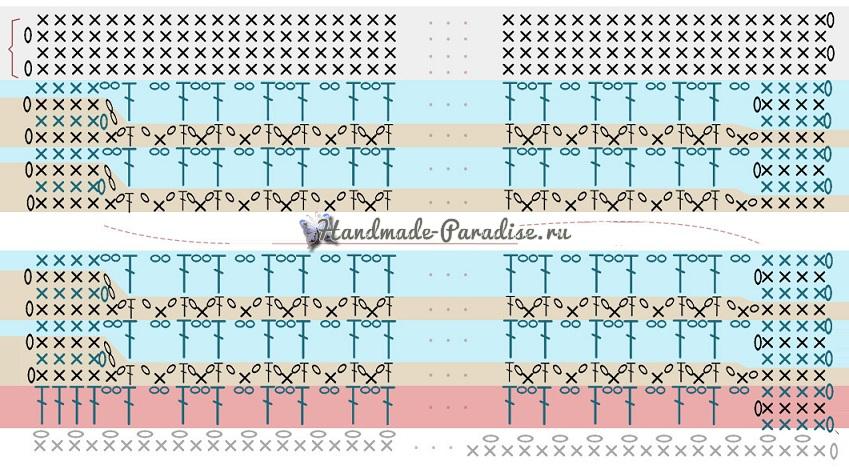 Схемы вязания летней сумки из бумажной рафии (1)
