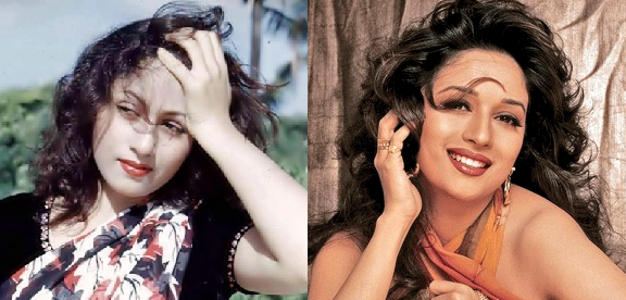 madhuri dixit and madhubala, bollywood celebrities and their look alike, bollywood celebrities ke hamshakl, bichudi behna, kumbh ke mele me bichde the ye