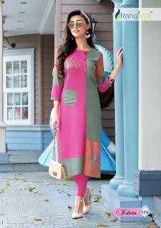 Rangjyot Ishita vol 1 daily wear kurtis