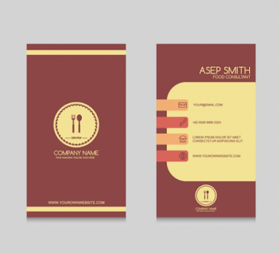 Contoh Kartu Nama - Food Consultant Business Card Design