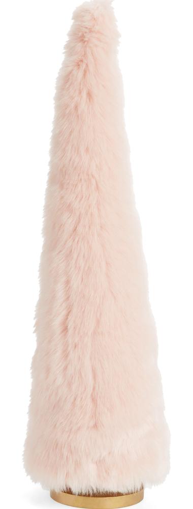 Rachel Parcell 24-Inch Frost Faux Fur Tree