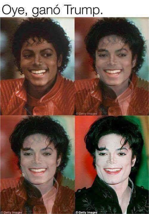 Meme De Humor Michael Jackson Se Entera Que Ganó Trump