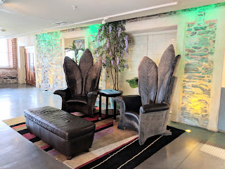 sitting area at the Lancaster Arts Hotel