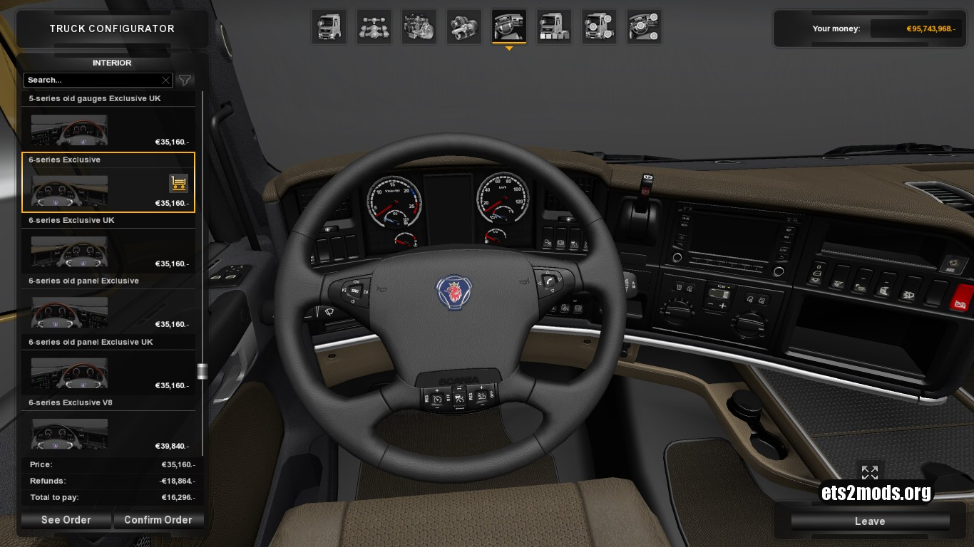 Leather Interior for Scania RJL