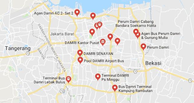 Alamat Pool Damri Jakarta