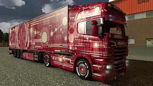 Red Tech skin for Scania R