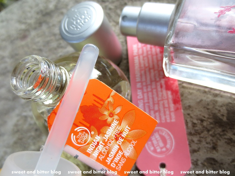 The Body Shop Indian Night Jasmine Perfume Oil and Japanese