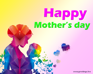 Happy mothers day a graphic illustration of mother holding a baby