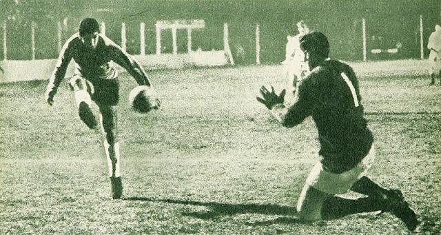 Argentina y Chile en partido amistoso, 11 de junio de 1969