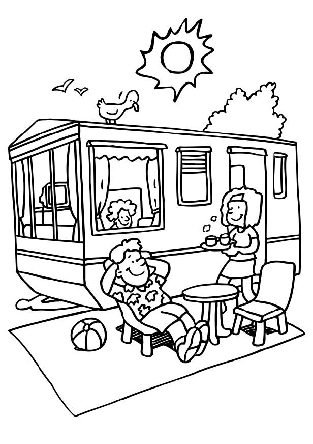 free camping coloring pages - photo#12