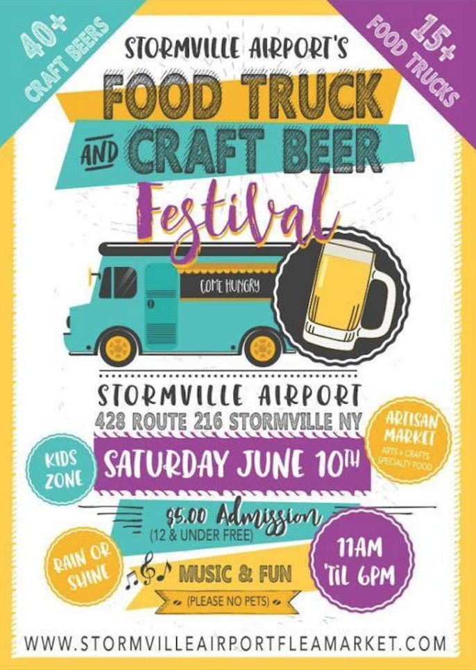 Behind the leopard glasses storming the stormville for Food truck and craft beer festival