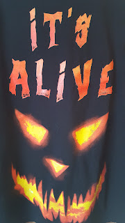 It's Alive Carved Halloween Pumpkin Face Shirt