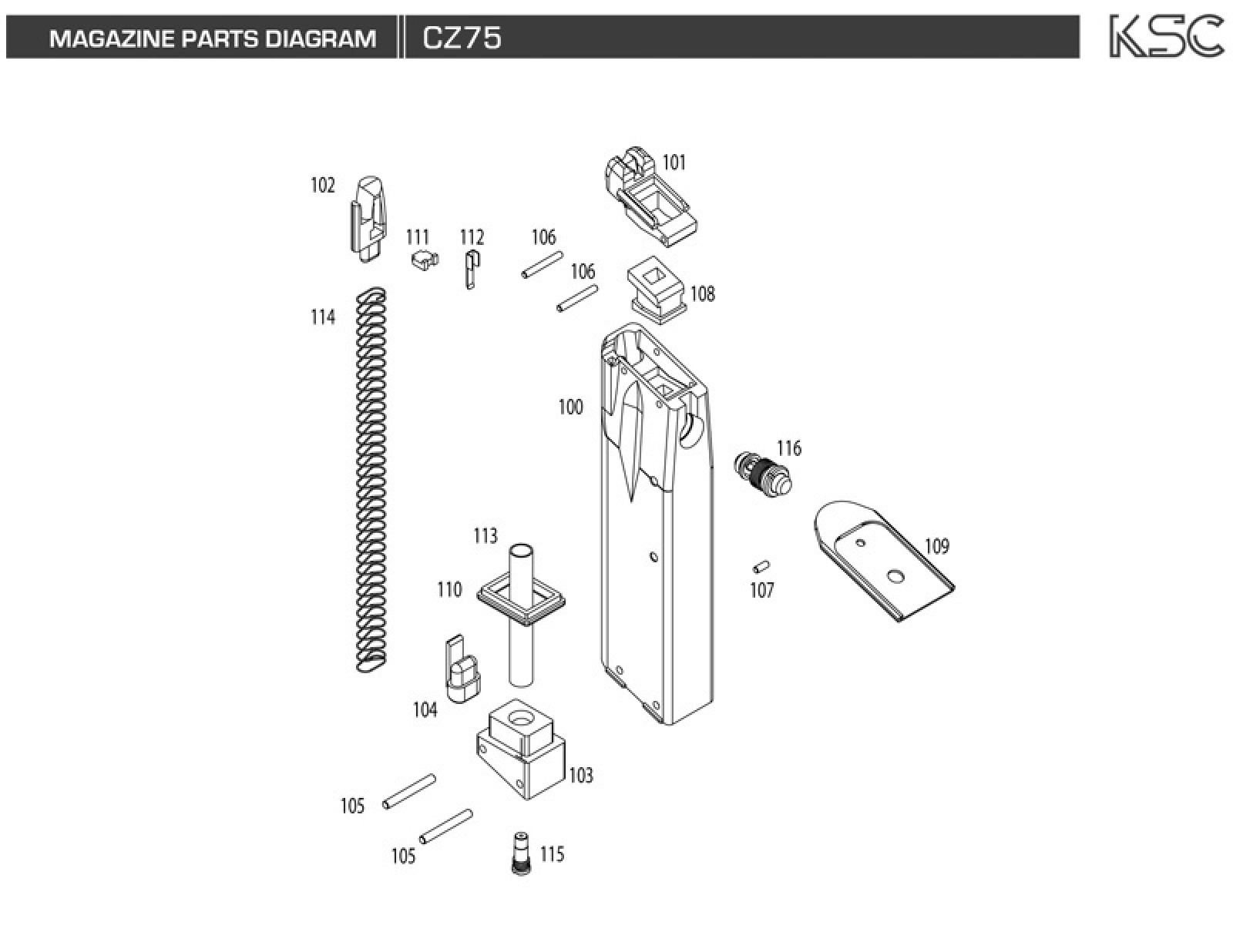 Disassembly diy my airsoft gun and other things diagram part for magazine diagram ccuart Images